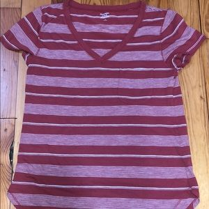 Vneck pocket tee from Abercrombie, rust color